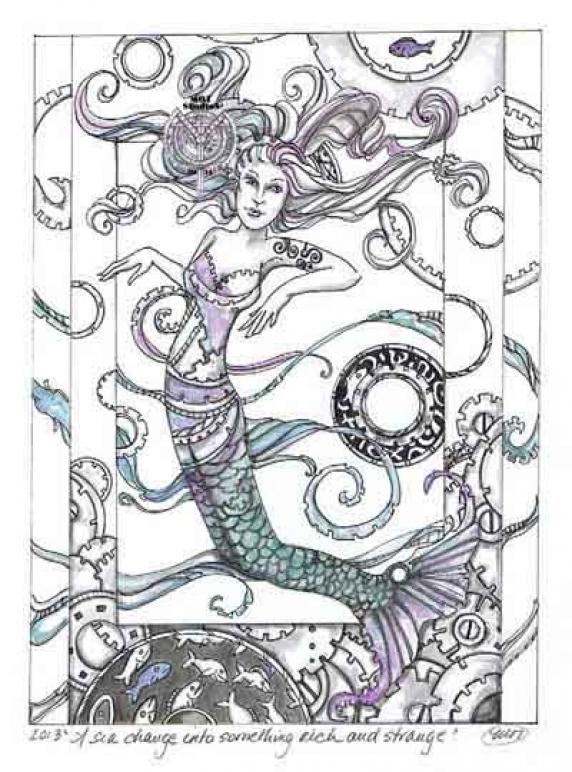 Mermaid in Steampunk'd waters