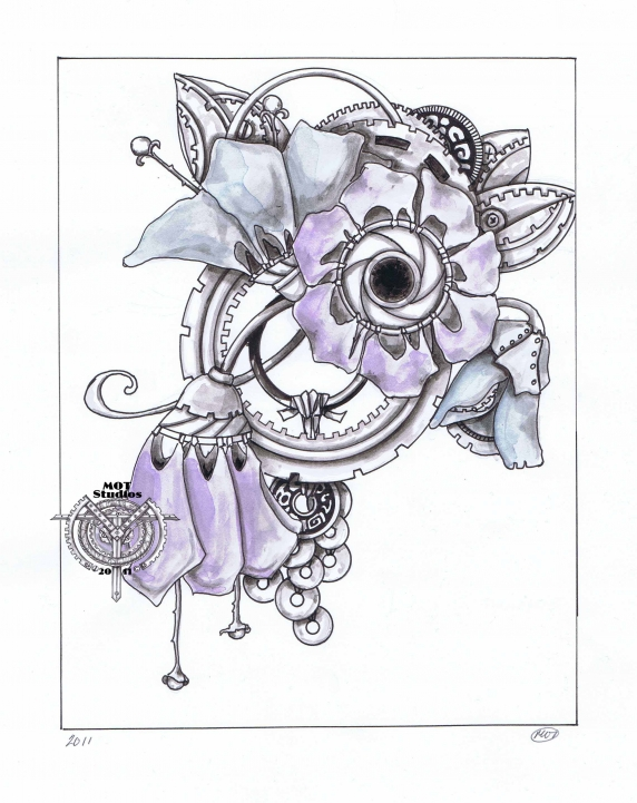 STEAM PUNK FLORAL