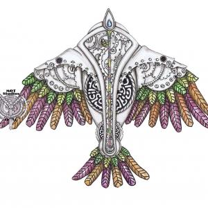 Stain Glass Sparrow